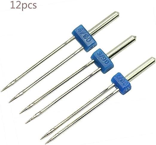 12 agujas dobles, doble aguja para máquina de coser, agujas dobles ...