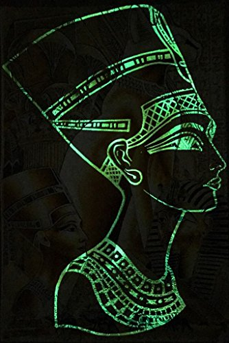 - Ancient Egyptian Glow in the dark handmade Papyrus of King Tut-Nefertiti-Bastet-Pyramids and hieroglyphic alphabet-school project/wall decor 13X16 In Sheet/Scroll {{Frame not included}}.