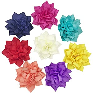 SUNYUM Dog Collar Accessaries Flowers- Collar Bud- Pet Charms- Flower Collars- Dog Collar Charms- Dog Collar Slides Flower- Accessories For Cat Puppy Grooming Decoration Pack of 8 (lotus)