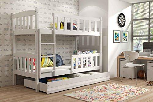 Etagenbett Mit Lattenrost Und Matratzen : Interbeds etagenbett quba mit matratzen lattenroste und