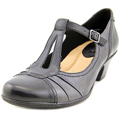 Earth Women's Wanderlust Black Leather 9 M (Pump Mary Jane Shoes Sole)
