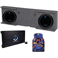 Planet Audio Gmc Chevy Crew Cab 07-13 Box with 2 10-Inch Subs with 2 Channel Amp with Wiring (Pair)