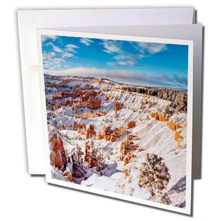 (3dRose Greeting Card Utah, Bryce Canyon National Park. Winter, Bryce Canyon Amphitheater, 6 x 6