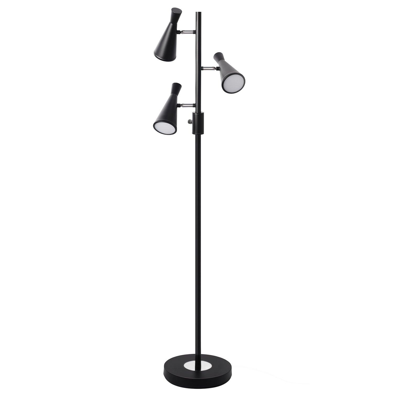 Sunllipe 3 Light Tree Floor Lamp, SMD 2835 LED Floor Reading Lamp, Modern 60'' Adjustable Floor Standing Lamp, Energy Saving & Eye Caring Floor Light with 4 Modes Rotary Switch for Living Room, Office