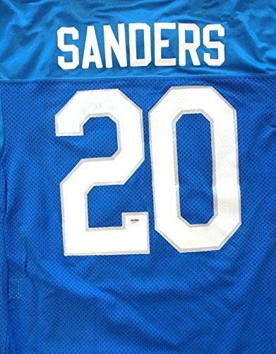 Barry Sanders Autographed Detroit Lions MacGregor Jersey Signed Twice Vintage Rookie Era PSA/DNA #Y28499