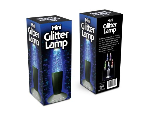 Blue Glitter Lamp (Fortune Products MGL-RGB Mini Glitter Lamp, 7 1/2
