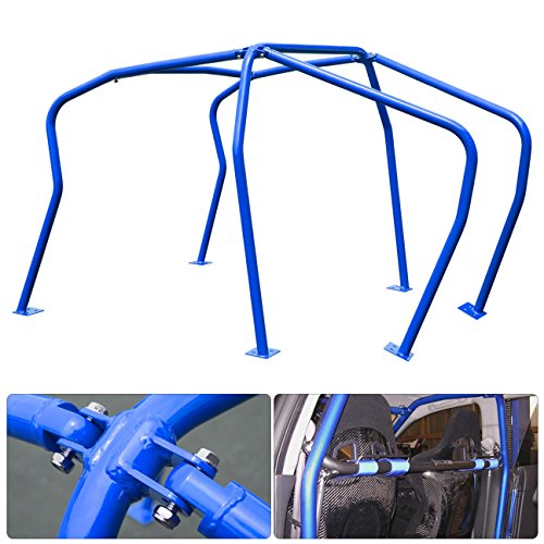 (For Vw Volkswagen Mk4 Mkiv Mark 4 Golf Gti 2.0L 1.8T Vr6 Tdi 6 Point Anti Roll Cage Safety Chassis Brace Blue)