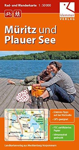 Rad- und Wanderkarte Müritz und Plauer See: Maßstab 1:50.000, GPS-geeignet, Erlebnis-Tipps auf der Rückseite