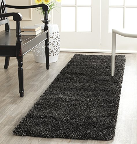 Safavieh Milan Shag Collection SG180-8484 Dark Grey Area Rug (2′ x 4′)