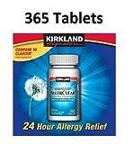Kirkland Signature Non Drowsy Allerclear Loratadine Tablets, Antihistamine, 10mg, 365-Count, Health Care Stuffs