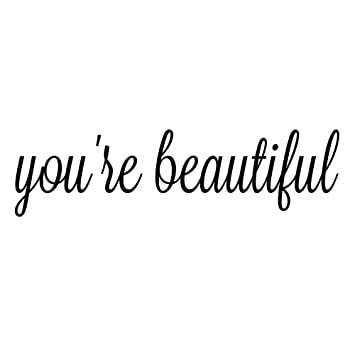 You are Beautiful Quote Mirror Decal Quotes Vinyl Wall Decals Walls Stickers  Home Decor(You