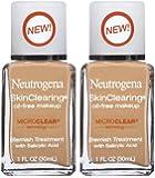 Neutrogena Cosmetics Skin Clearing Liquid Makeup - Soft Beige 50 - 2 Pack