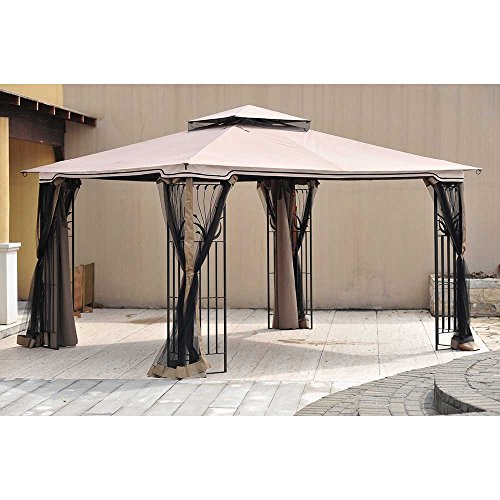Sunjoy Replacement Canopy Set for 10x12ft Leaf Steel Gazebo