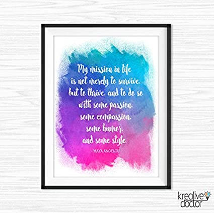 Literary Quote Maya Angelou Print Office Wall Art Printable Women Motivational  Wall Decor Inspirational Cubicle Decor