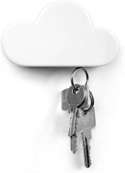 Amazon Com Twone White Cloud Magnetic Wall Key Holder Novelty Adhesive Cute Key Hanger Organizer Easy To Mount Powerful Magnets Keep Keychains And Loose Keys Securely In Place Office Products