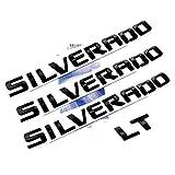 black silverado letters - Yoaoo 3pcs OEM Black Silverado Plus LT Nameplate Letter Emblems 3D Badge for Silverado 1500 2500HD 3500HD Original Silverado Glossy Black