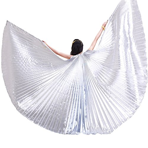 Pilot-trade Women's Professional Belly Dance Costume Angle Isis Wings No Stick -