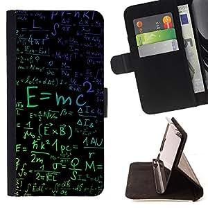 - E=MC2 Physics - - Monedero PU titular de la tarjeta de cr????dito de cuero cubierta de la caja de la bolsa FOR LG G3 RetroCandy