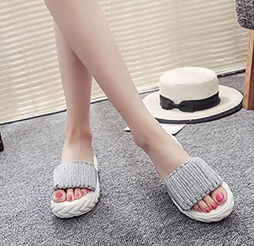 Sandali Spesso Fondo 35 Infradito Pantofole Di Gray Muffin Interno Estate Casual Shangxian Moda black qtgaaU