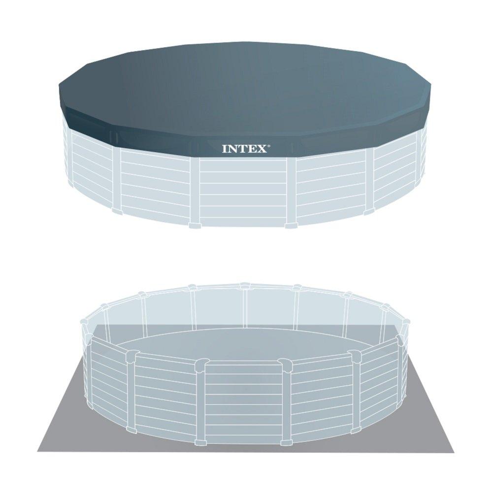 Intex 26382NP - Piscina desmontable Graphite Grey Panel 478 x 124 cm, 16.805 litros: Amazon.es: Jardín