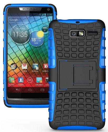 NAKEDCELLPHONE BLUE GRENADE RUGGED SKIN HARD CASE COVER STAND FOR VERIZON MOTOROLA DROID RAZR-M XT907 / XT901 / RAZR i XT890