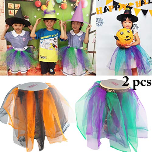FunPa 2PCS Halloween Party Skirt Creative DIY Tutu Skirt Costume Skirt for Kids