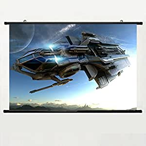 DAKE Home Decor DIY Art Posters with Star Citizen Wallpaper(23) Wall Scroll Poster Fabric Painting 24 X 16 Inch (60cm X 40 cm)