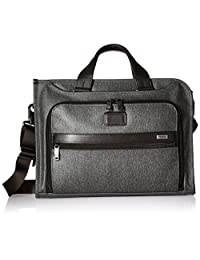 TUMI Alpha 2 Slim Deluxe Portfolio Briefcase, Earl Grey, One Size