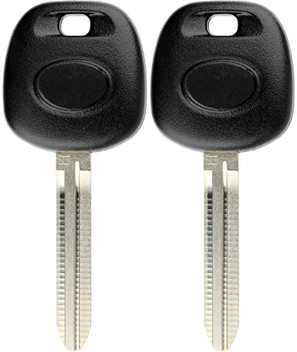 KeylessOption Blank Car Ignition Transponder Chip Master Key Blade for Toyota H Chip (Pack of 2) (Toyota Master Key Blank)