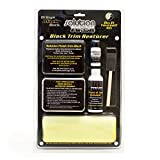 micro application - Solution Finish Black Plastic & Vinyl Restorer - 4oz Cleaner, 1oz Black Plastic & Vinyl Restorer, foam application brush, (2) microfiber sponge, microfiber towel, and (5) nitrile disposable gloves