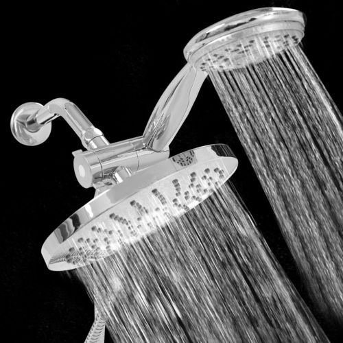 3 Way Shower Combo Setting Luxury Handheld Head Ultra Rainfall New Dual Chrome by Shower Heads