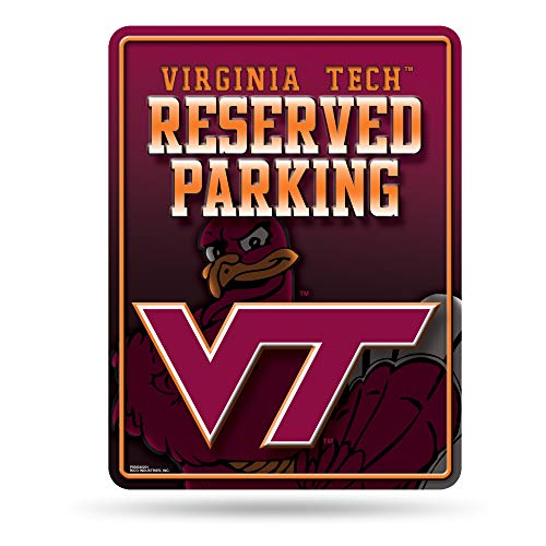 (NCAA Virginia Tech Hokies 8-Inch by 11-Inch Metal Parking Sign Décor)