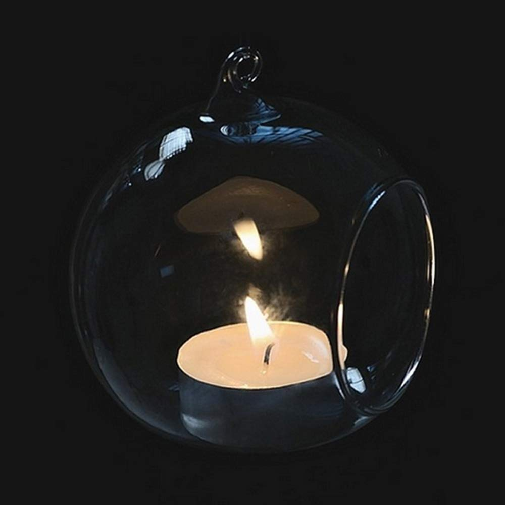 Godagoda Home Decorations Candlestick Crystal Glass Hanging Candle Holder Candlestick Home Wedding Party Dinner Decor 1pcs
