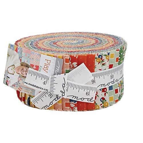 (American Jane Play All Day Jelly Roll 40 2.5-inch Strips Moda Fabrics 21740JR)