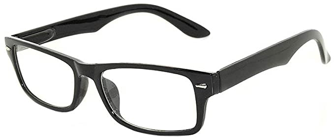 ee539ba6884 Retro Fashion Style Narrow Rectangular Black Frame Glasses Clear Lens