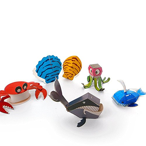 3d Paper Model Marine Animals Assembly Paper For Papercraft