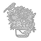 callm Christmas Cutting Dies, Tree Flower Bird Wedding Butterfly Paper Card Making Metal Die Cut Stencil Template for DIY Scrapbook Photo Album Embossing Craft Decoration (H)
