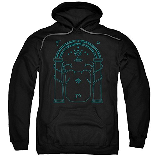 Hoodie: Lord Of The Rings- Doors Of Durin Pullover Hoodie Size M