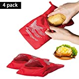 Microwave Potato Bag Potato Express Pouch Washable And Reusable,Cooking In Just 4 Minutes(4 Pack)