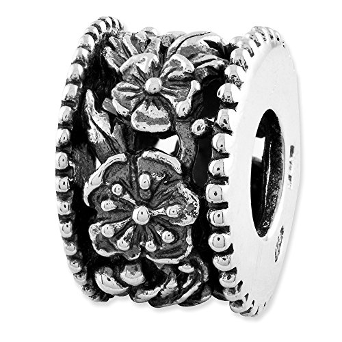 925 Sterling Silver Charm For Bracelet Flowers Bali Bead Fine Jewelry Gifts For Women For Her