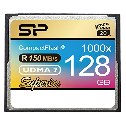 Silicon Power 128GB Hi Speed 1000x Compact Flash Card (SP128GBCFC1K0V10) by Silicon Power