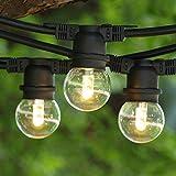 LED Outdoor String Light - 100 ft Black - LED G50 Professional Bulb WW