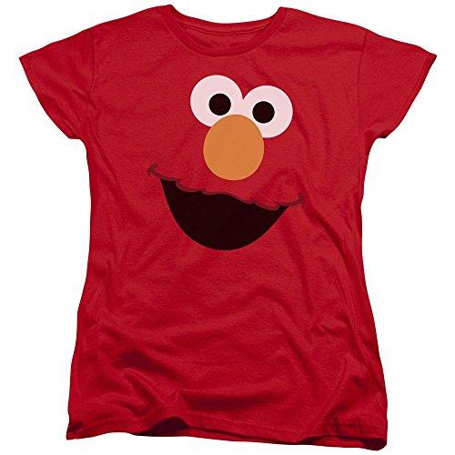 Womans: Sesame Street- Big Elmo Face Ladies T-Shirt Size S