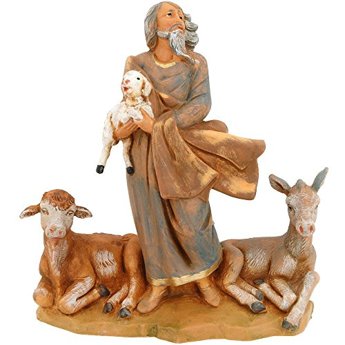 Fontanini Peter Boy With Sheep Nativity Village Collectible 54049 Distrubuted by Roman Inc