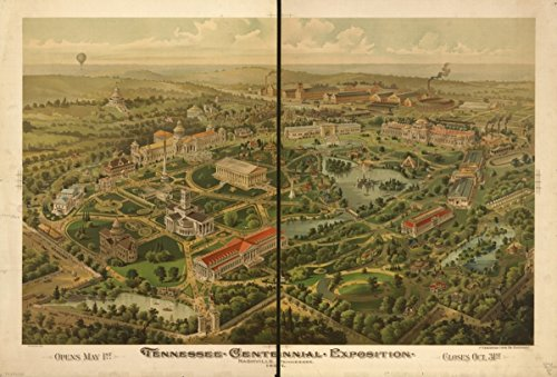 Map: 1896 Tennessee Centennial Exposition, Nashville, Tennessee, 1897. Opens May 1st. Closes Oct. 31st|Nashville|Tennessee|Tennessee Centennial and International Exposition|Tennessee Centennial and In
