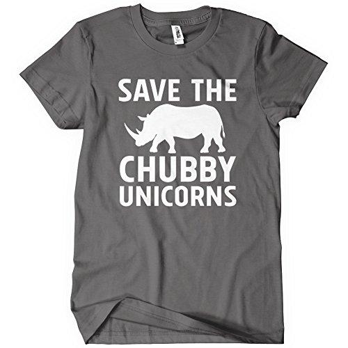 2a011a8ad Save the Chubby Unicorns Womens Funny T-Shirt Tee Rhino Animal Joke Gift  Cute