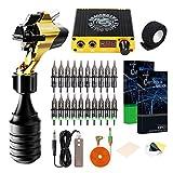 Mast Flash Rotary Tattoo Machine Kit Cartridges Disposable Needles Power Supply TZ450