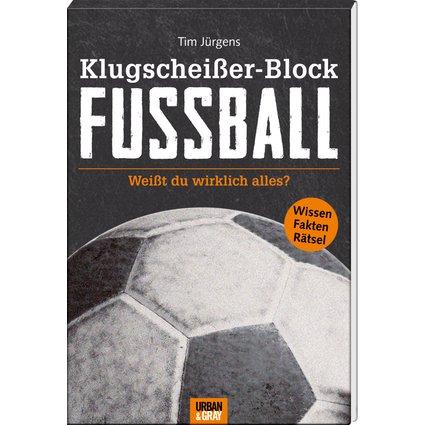 Spiegelburg 14798 - articoli da regalo e scherzetti - blocco note rilegato con serie di domande e quiz in tedesco riguardanti curiosità sul calcio - 15 x 21 x 2 cm