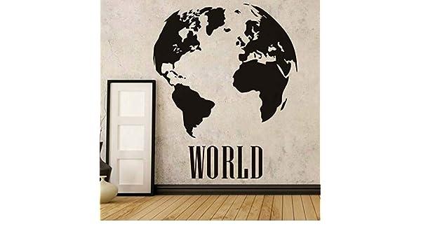 Zipei 58 * 71 CM Mapa del Mundo Global Atlas Vinilo Tatuajes de ...