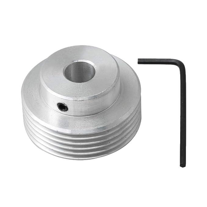 Yibuy Polea de aluminio PJ para cortacésped de compresores, color ...